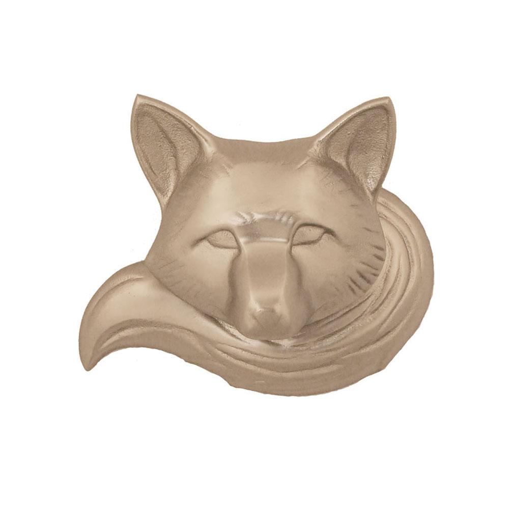 Fox Door Knocker - Nickel Silver