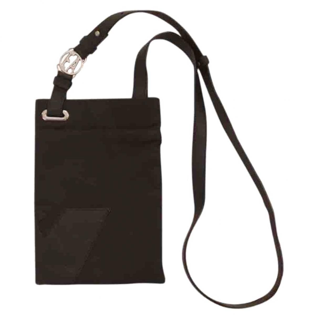 Emporio Armani \N Black Cloth bag for Men \N