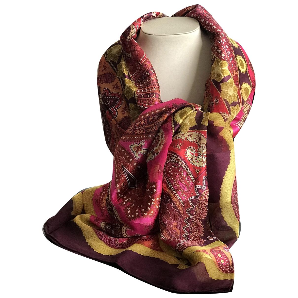 Dior - Foulard   pour femme en soie - bordeaux