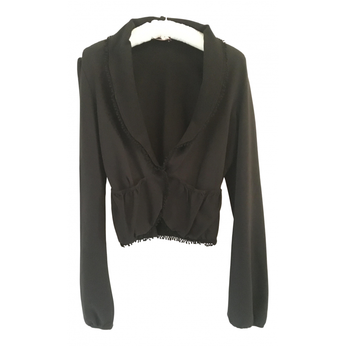 Max & Co N Black Cotton jacket for Women M International