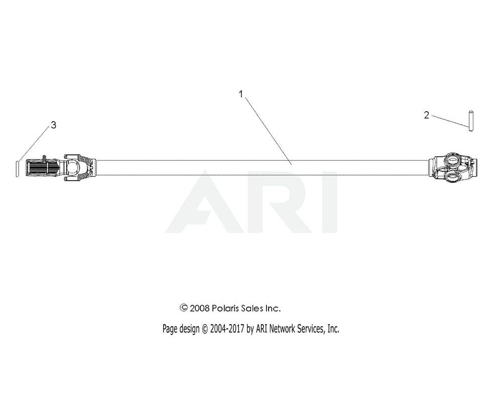 Polaris OEM 1332651 Asm., Prop Shaft, Front