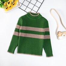 Pullover mit Farbblock und Stehkragen