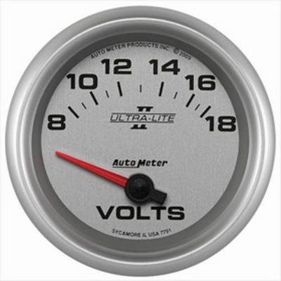 Auto Meter Ultra-Lite II Electric Voltmeter Gauge - 7791
