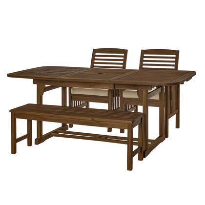 OWD4SDDB 4 Piece Patio Dining Table Set in Dark