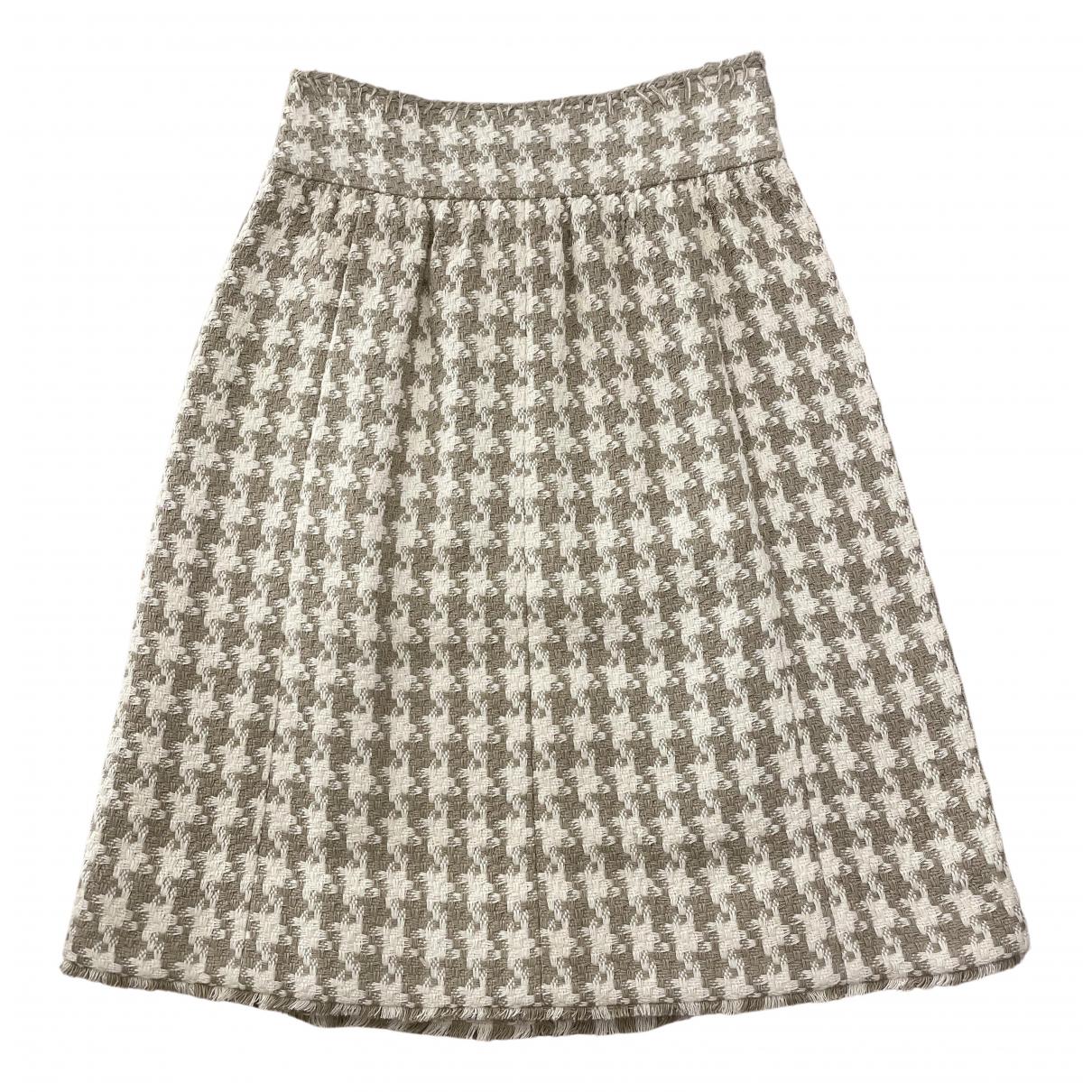 Chanel \N Rocke in  Beige Tweed