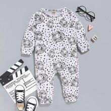 Baby Boy Cheetah Print Jumpsuit