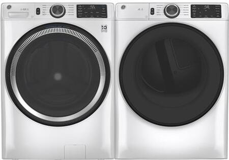 White Smart Side by Side Front Load Laundry Pair with GFW550SSNWW 28