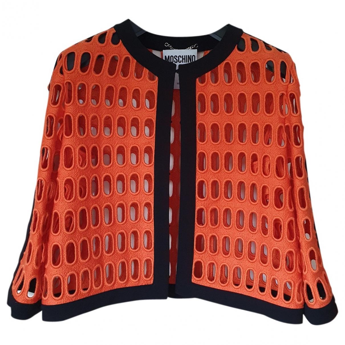Moschino - Veste   pour femme en coton - orange