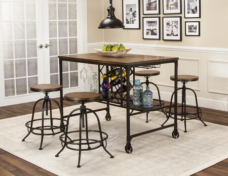 CR-W3075-68-5PC 5-Piece Dining Table Set with Counter Height Table + 4X Counter Stool  in