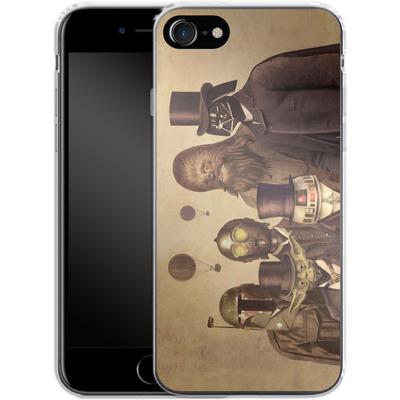 Apple iPhone 8 Silikon Handyhuelle - Victorian Wars von Terry Fan