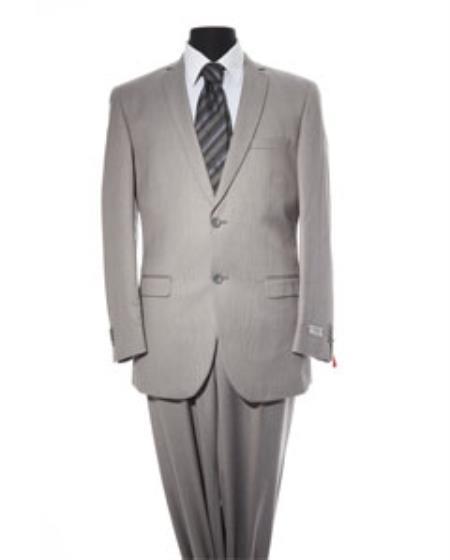 Mens Light Grey 2 Button 2 Piece Suit