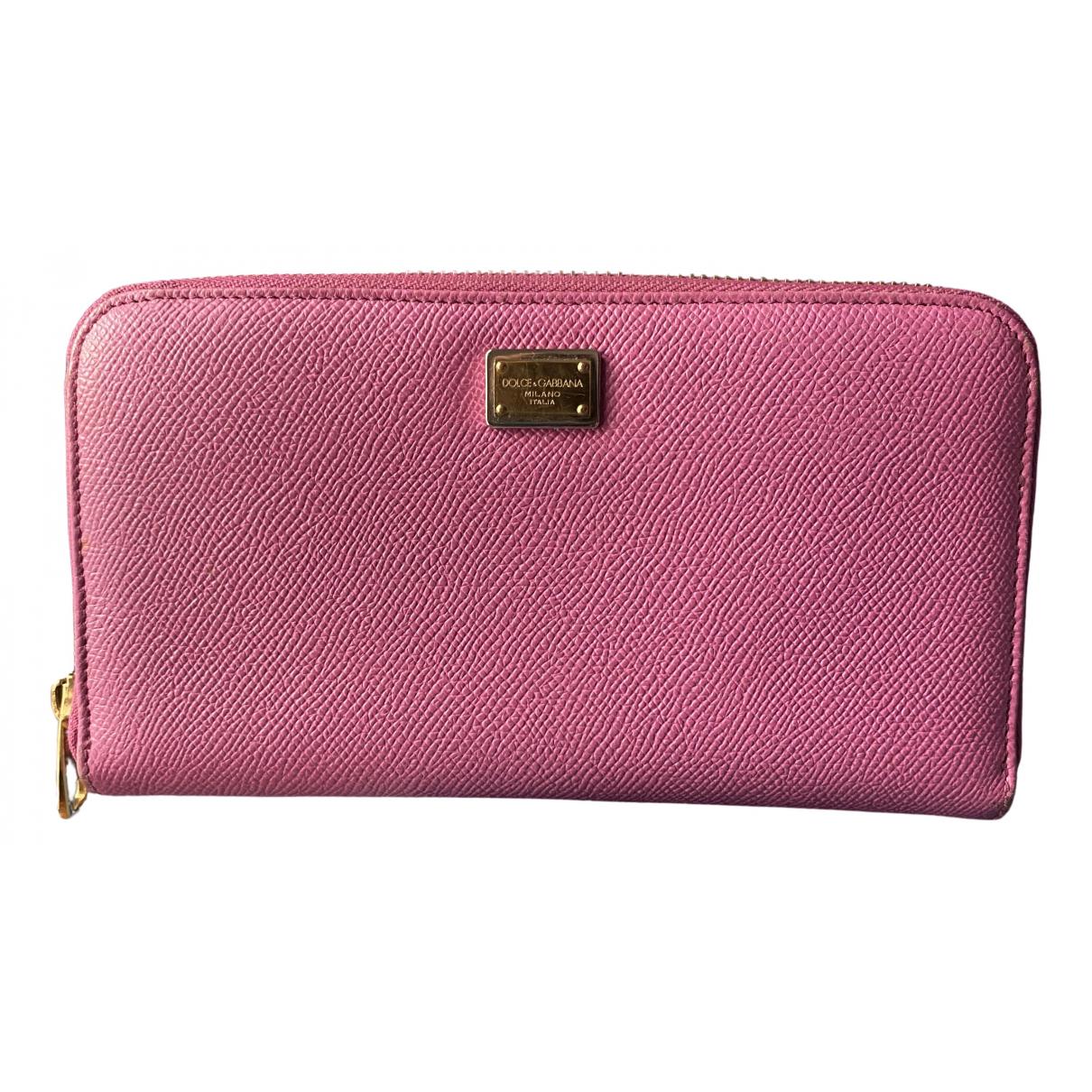 Dolce & Gabbana \N Portemonnaie in  Rosa Leder
