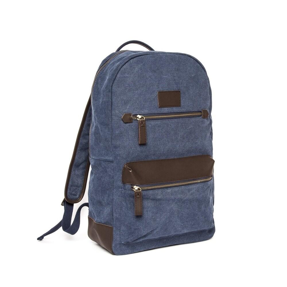 B&Co Excursion Backpack (Blue/Dark Brown)
