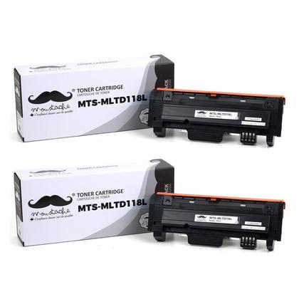 Compatible Samsung MLT-D118L cartouche de toner compatbile noire haute capacite - Moustache - 2/paquet