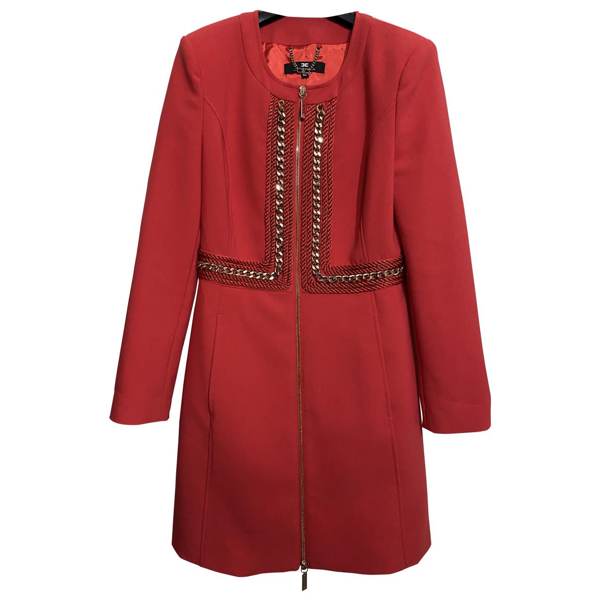Elisabetta Franchi - Manteau   pour femme - rouge