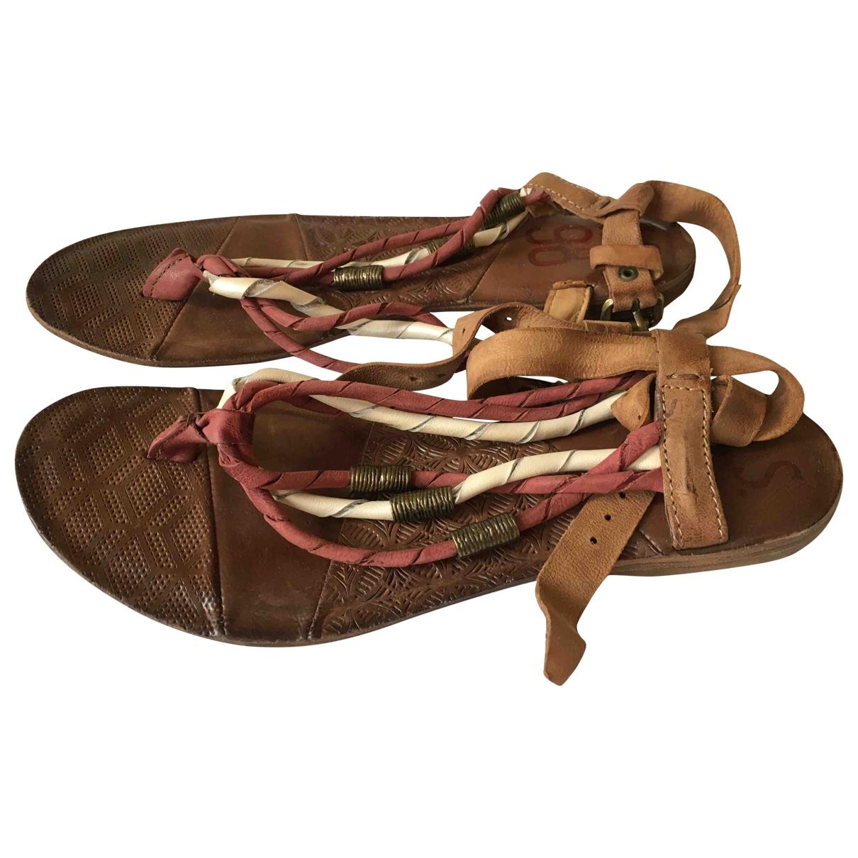 A.s.98 - Sandales   pour femme en cuir - marron