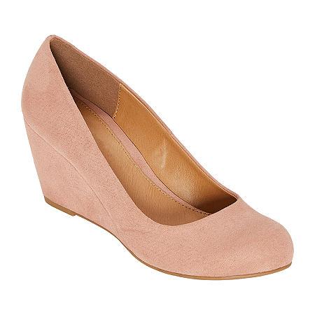 CL by Laundry Womens Nima Closed Toe Wedge Heel Pumps, 6 Medium, Pink
