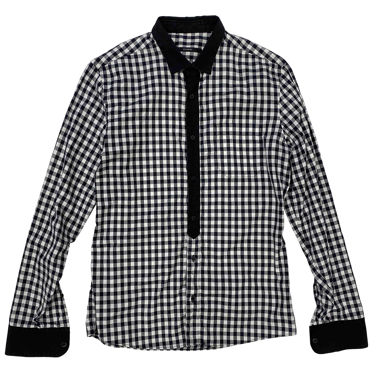 Gucci \N Black Cotton Shirts for Men 40 EU (tour de cou / collar)