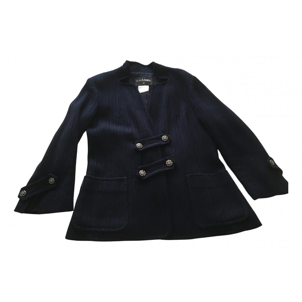 Chanel - Veste   pour femme en coton - marine