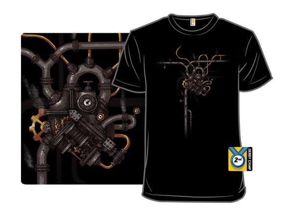Steam Heart T Shirt