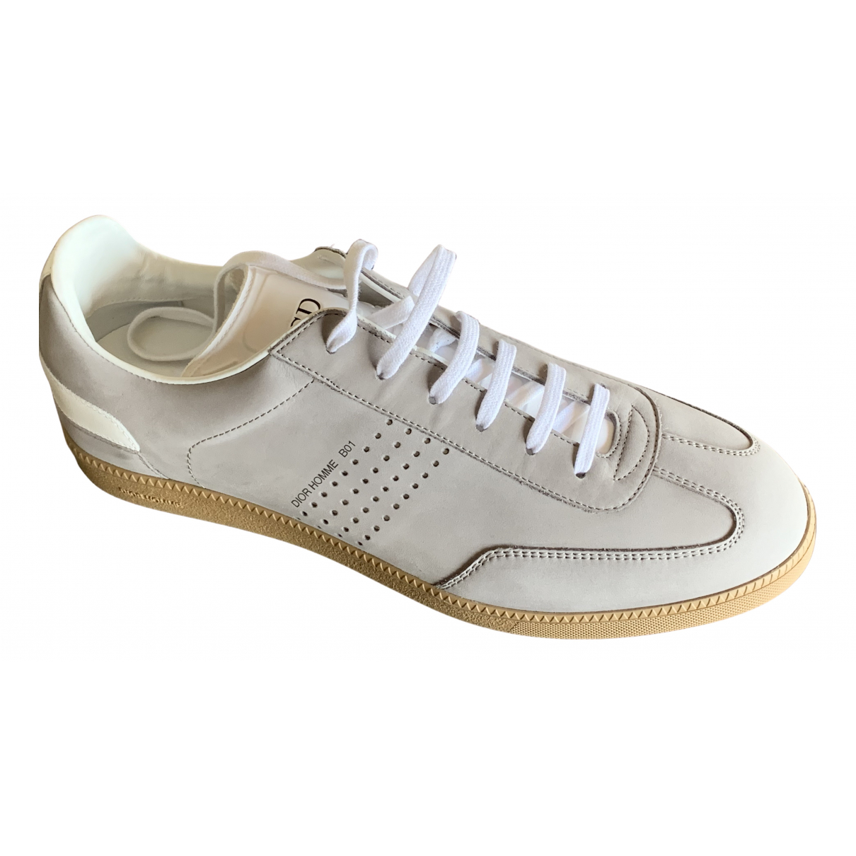 Dior Homme - Baskets B01 pour homme en cuir - gris