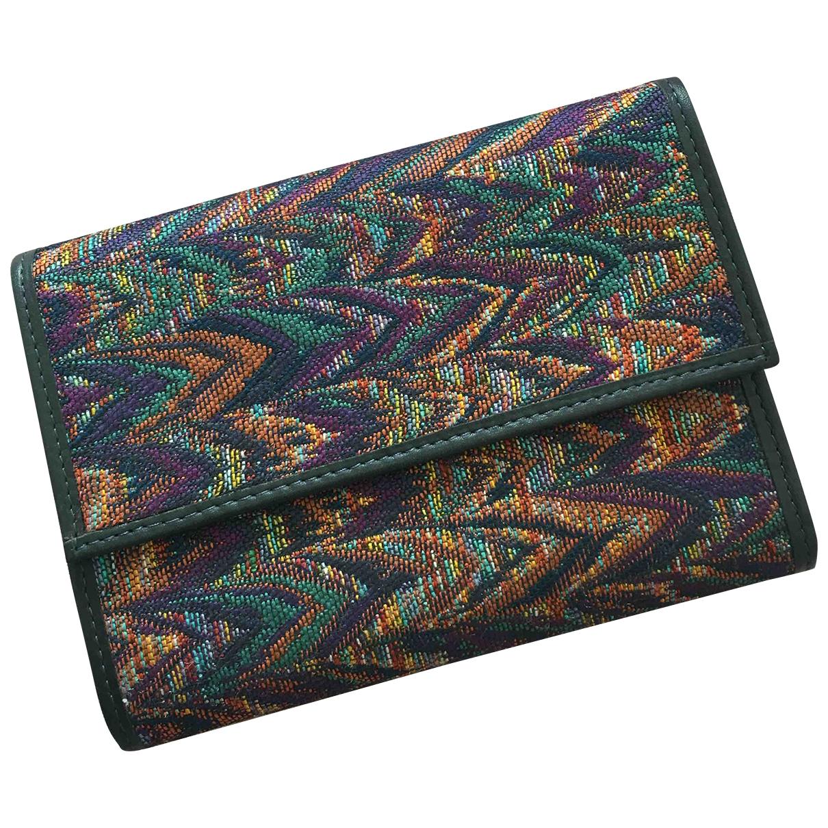 Missoni - Portefeuille   pour femme en cuir - multicolore