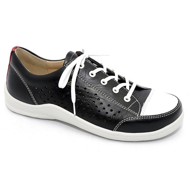 Finn Comfort Charlotte Black Leather Soft Footbed 36