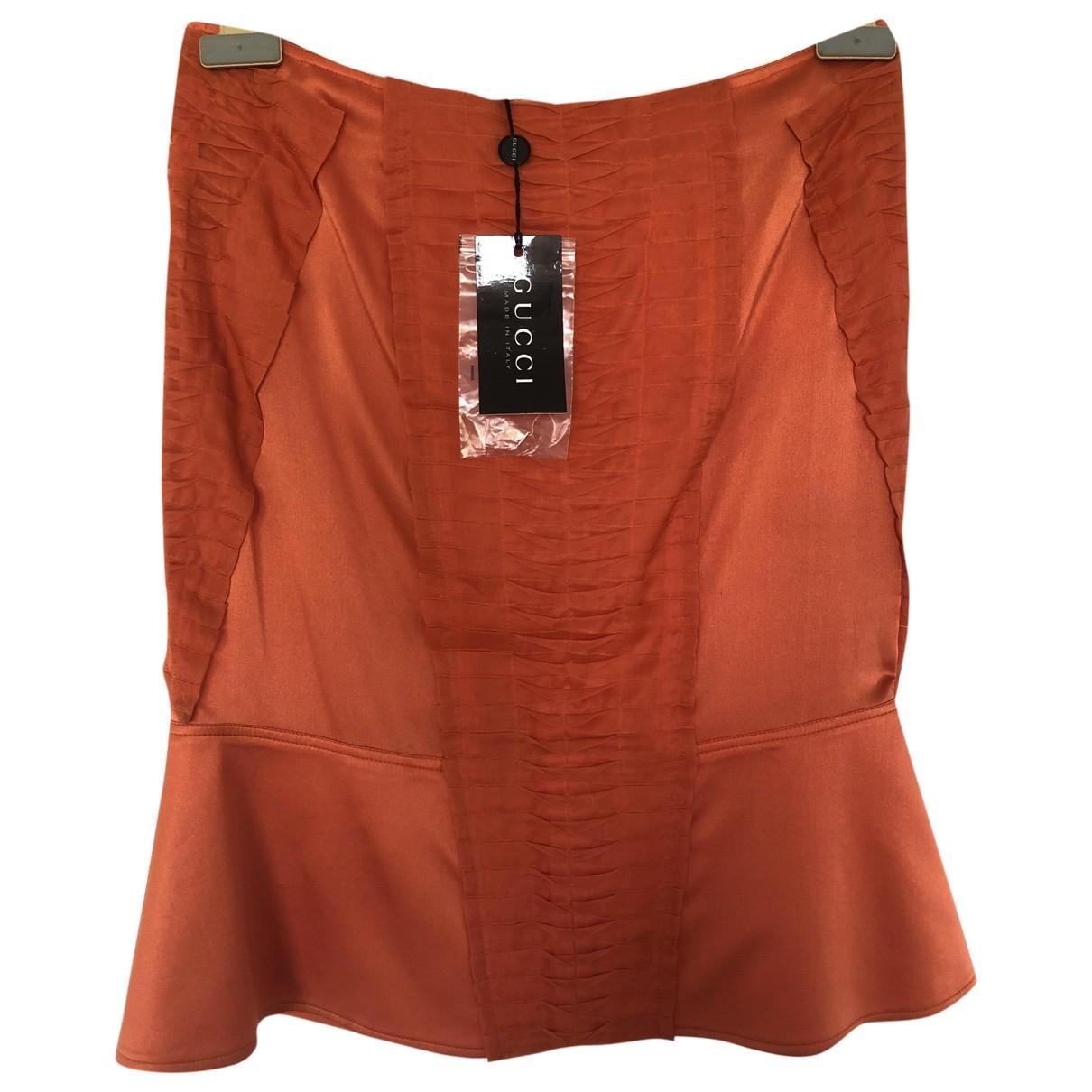 Gucci - Jupe   pour femme en soie - orange