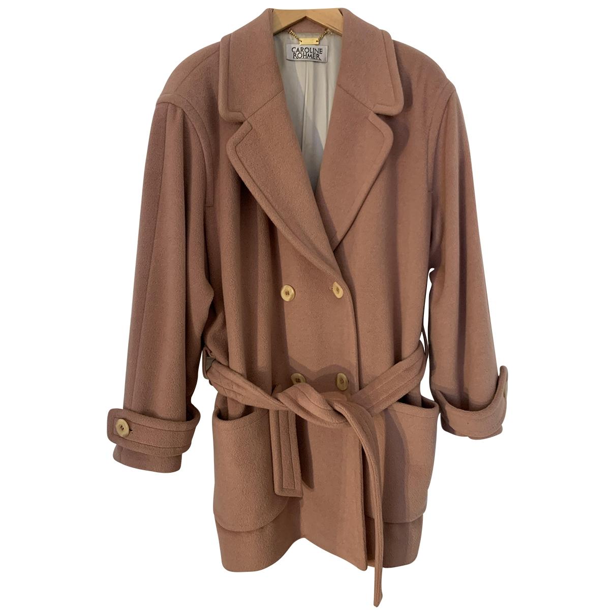 Carolina Lemke - Manteau   pour femme en laine - rose