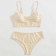 Surplice Neck Bikini Swimsuit