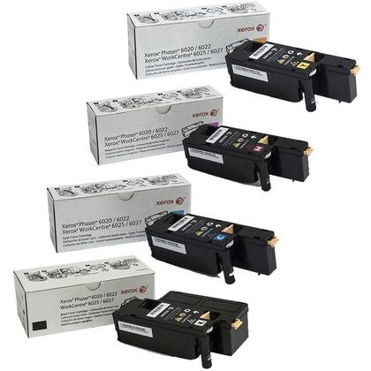 Xerox Original Toner Cartridge Combo BK/C/M/Y for Xerox Phaser 6022 WorkCentre 6027 Printer
