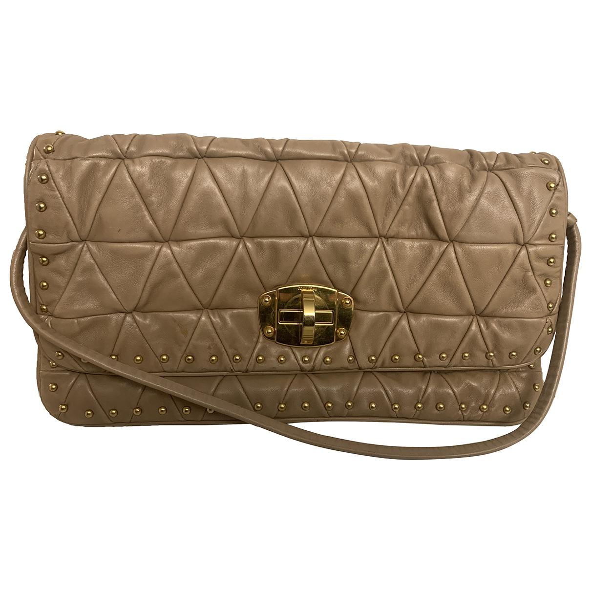 Miu Miu \N Beige Leather Clutch bag for Women \N