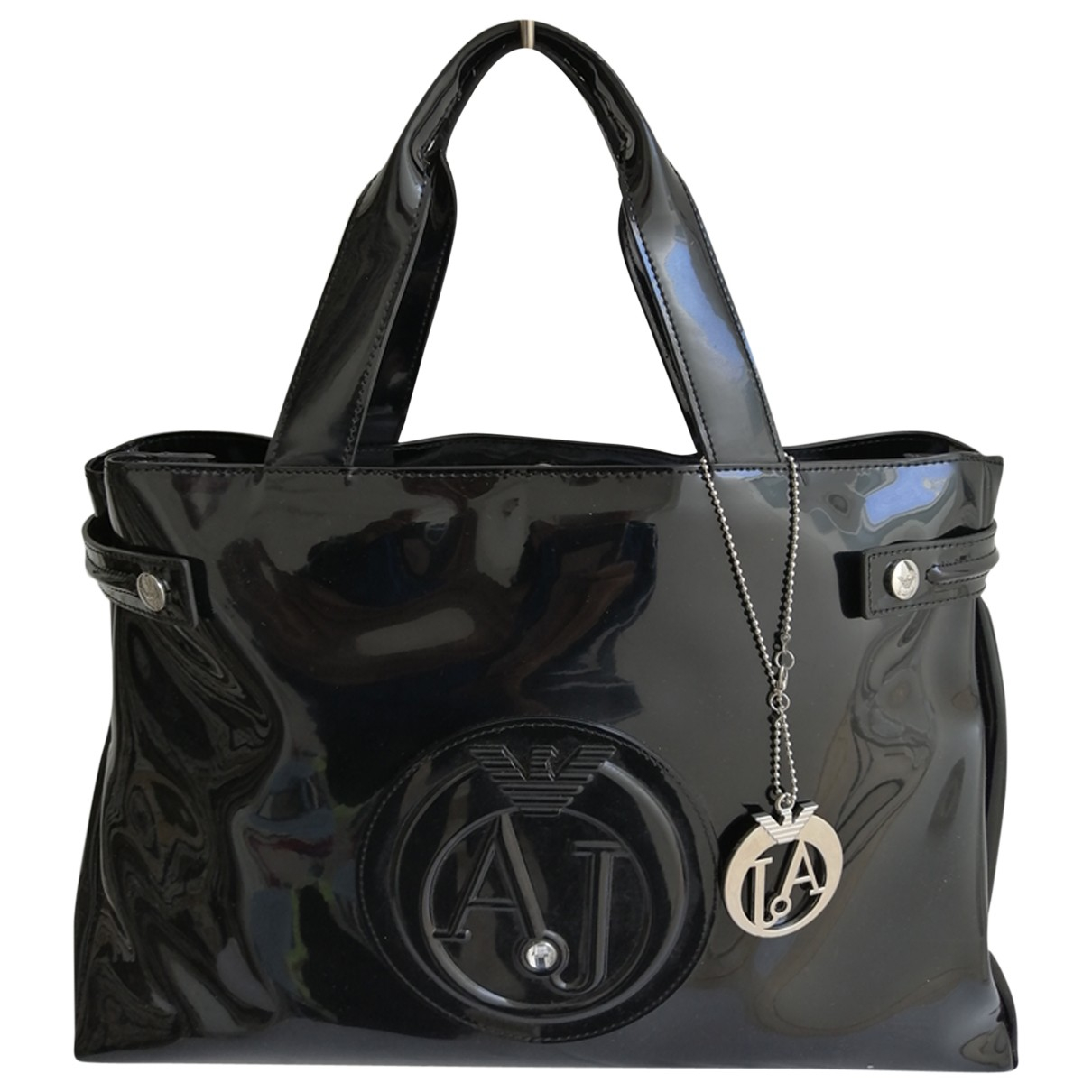 Armani Jeans N Black Patent leather handbag for Women N