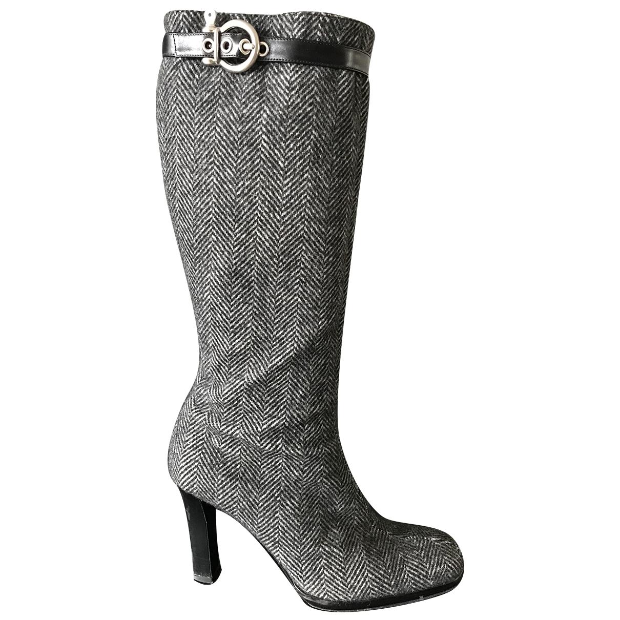 Burberry - Bottes   pour femme en tweed - gris
