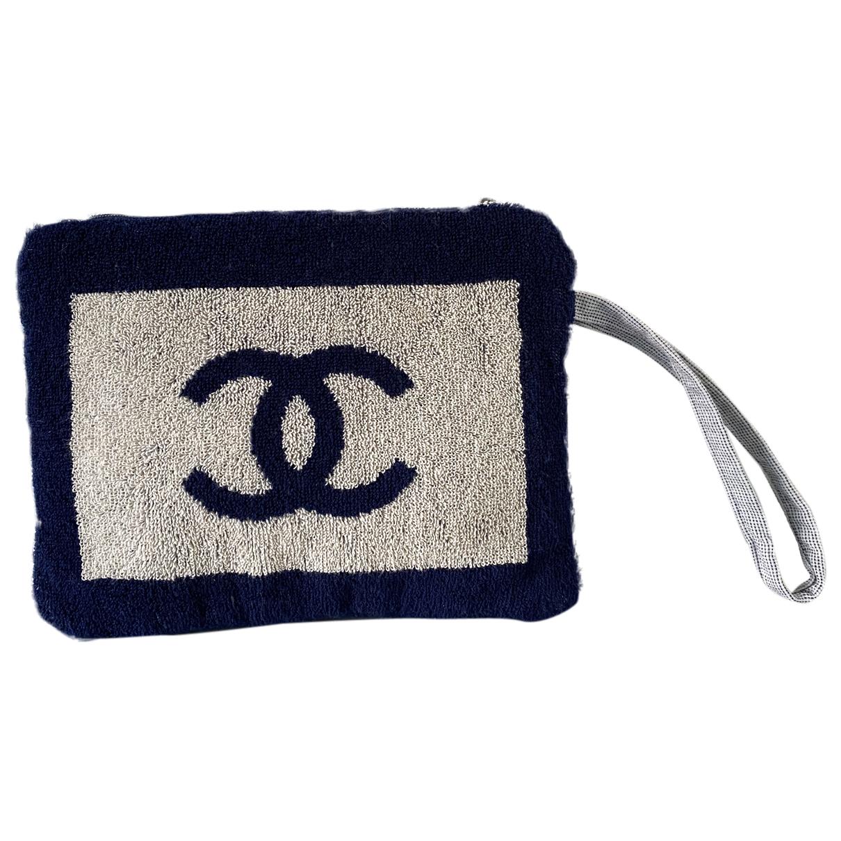 Chanel - Pochette   pour femme en coton - beige