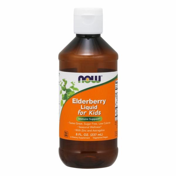 Elderberry Liquid for Kids 8 Oz by Now Foods