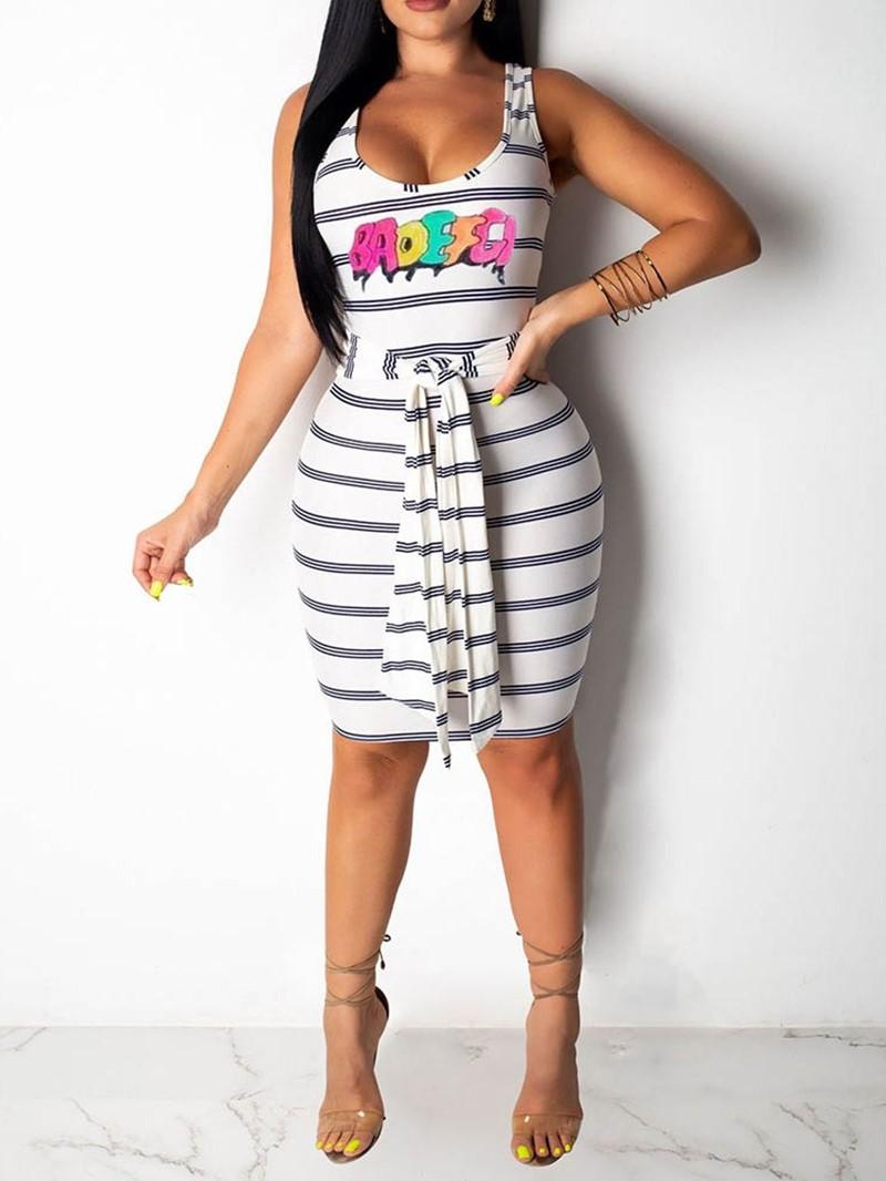 Ericdress Knee-Length Sleeveless Scoop Pullover Casual Dress