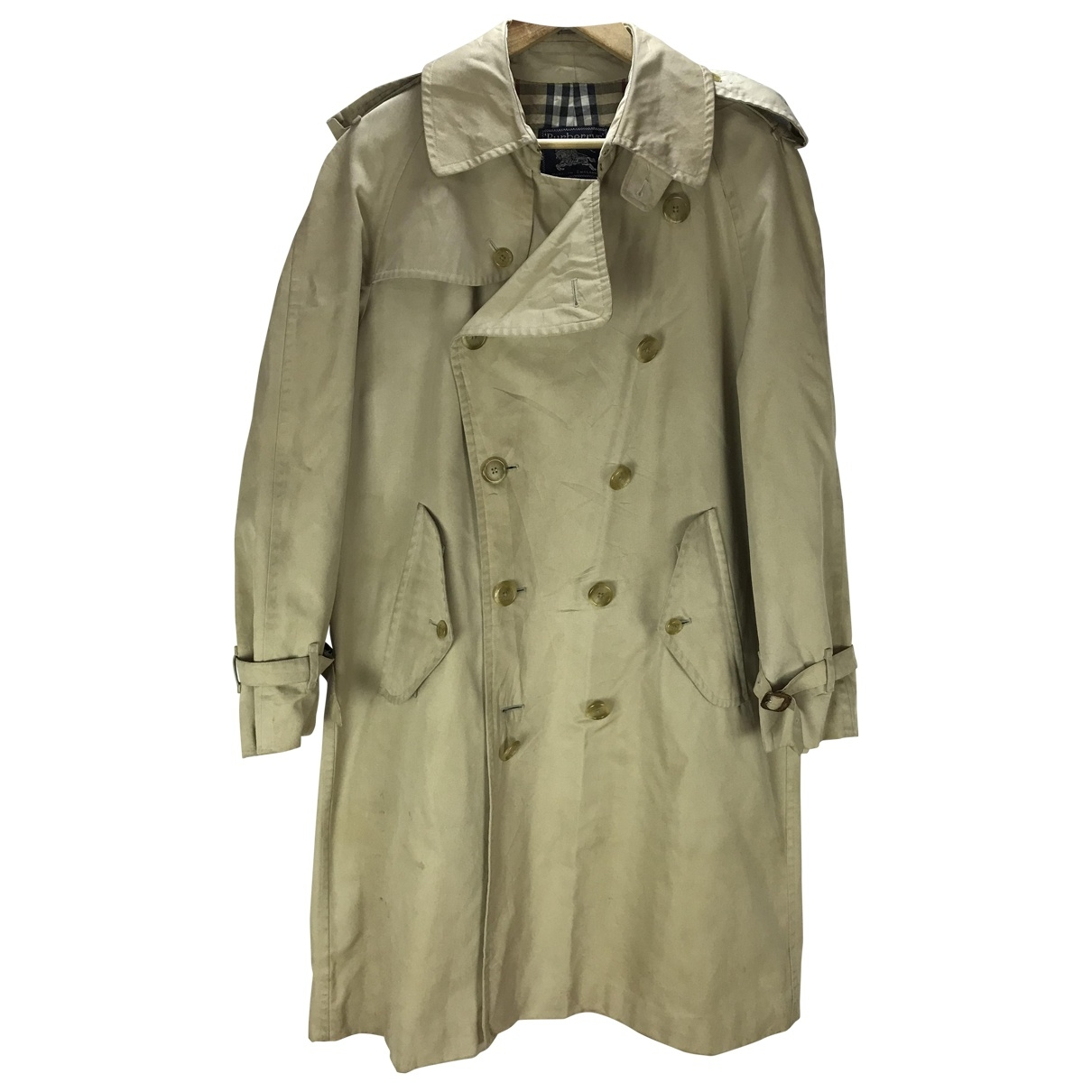 Burberry \N Khaki Cotton Trench coat for Women M International