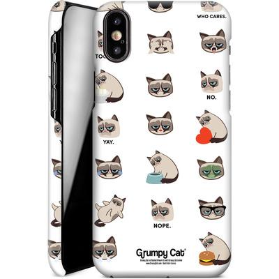 Apple iPhone X Smartphone Huelle - Grumpy Cat Pattern von Grumpy Cat