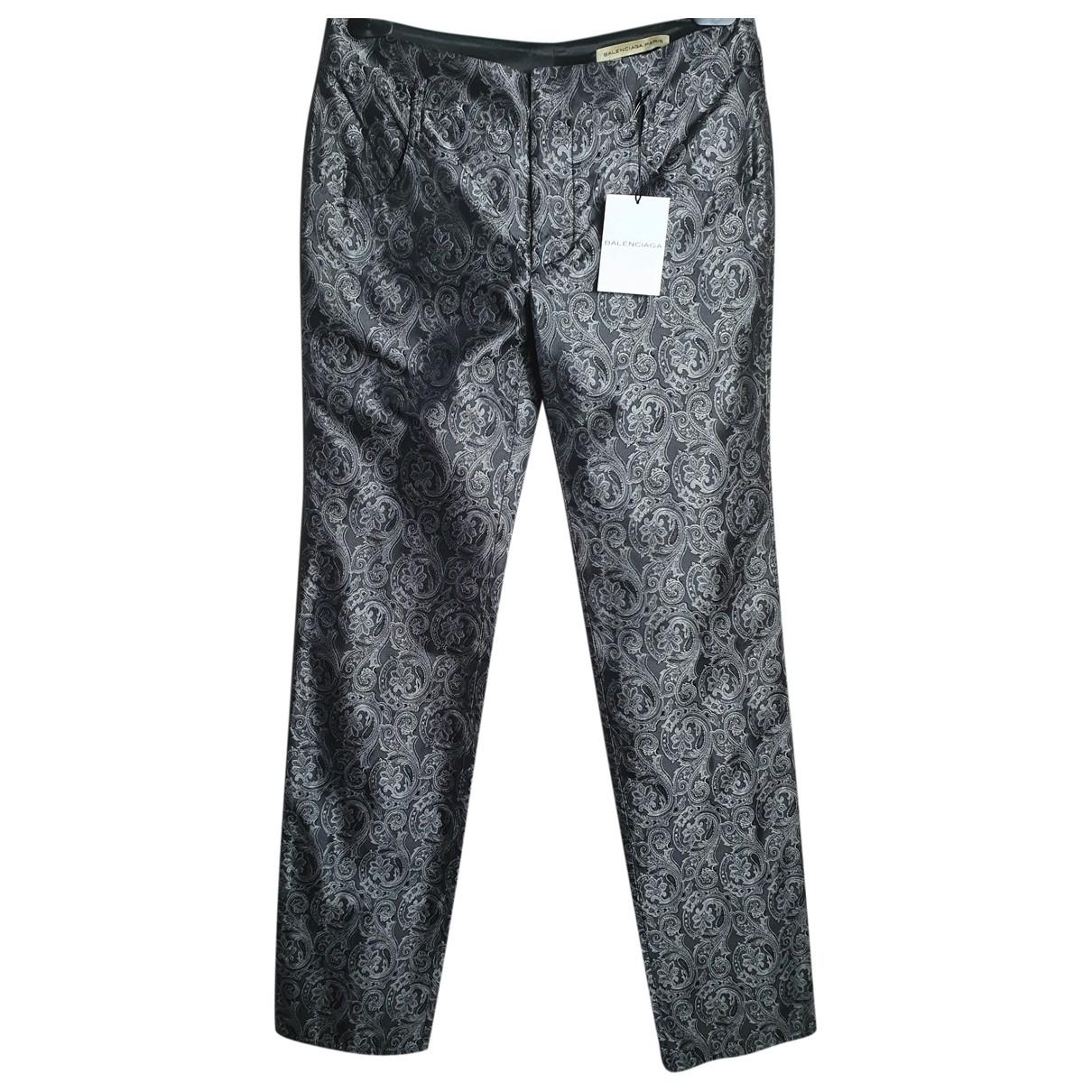 Pantalon recto de Seda Balenciaga