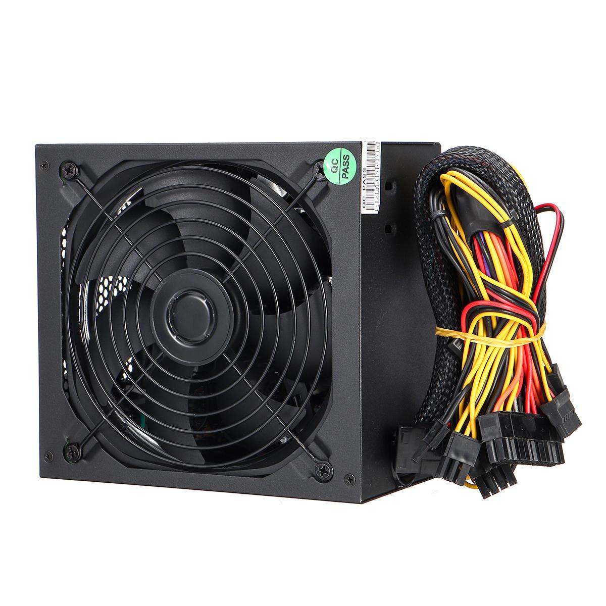 1000W PC Computer Power Supply Quiet 140mm Green LED Fan 24Pin SATA 6Pin 8Pin