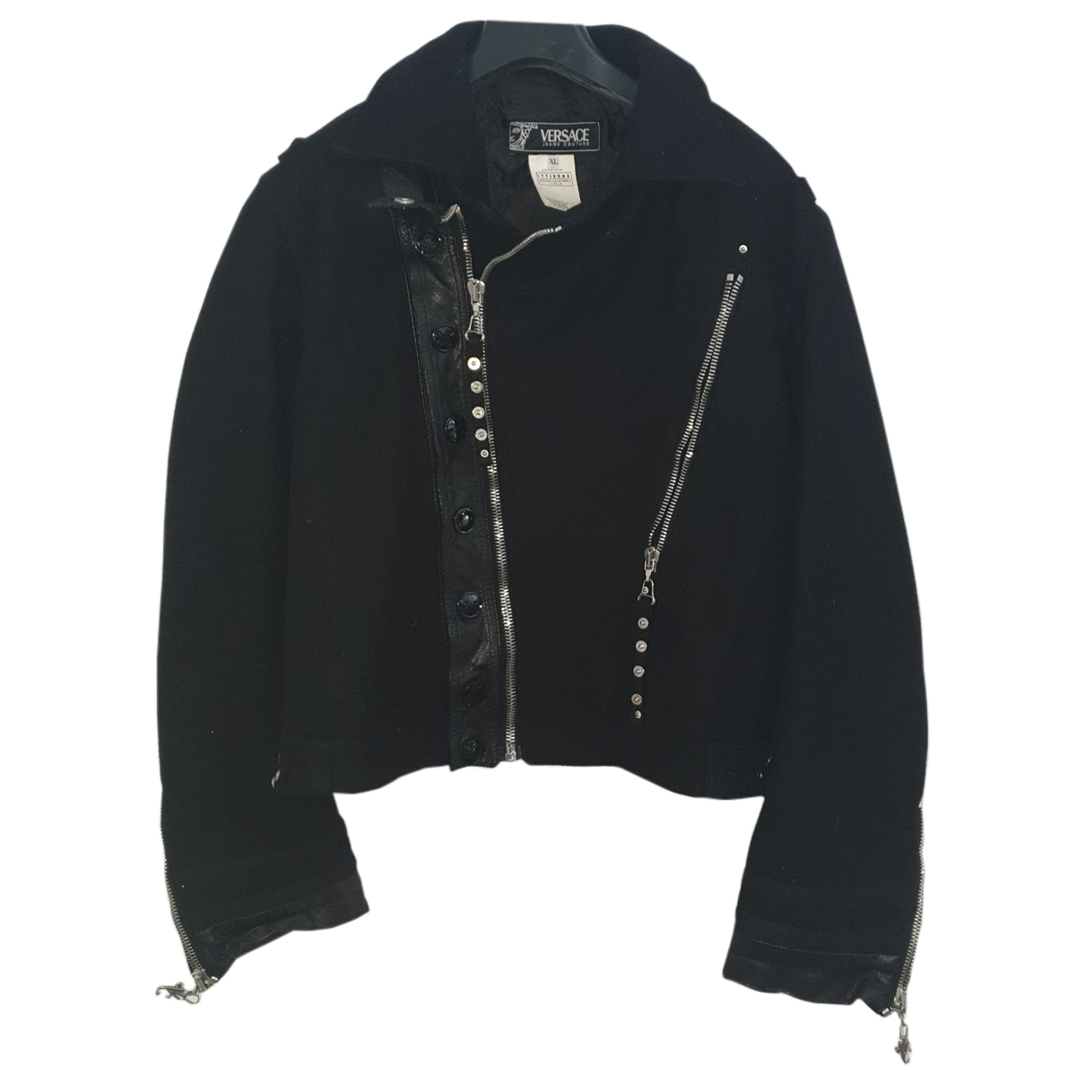 Versace Jean - Vestes.Blousons   pour homme en laine - noir