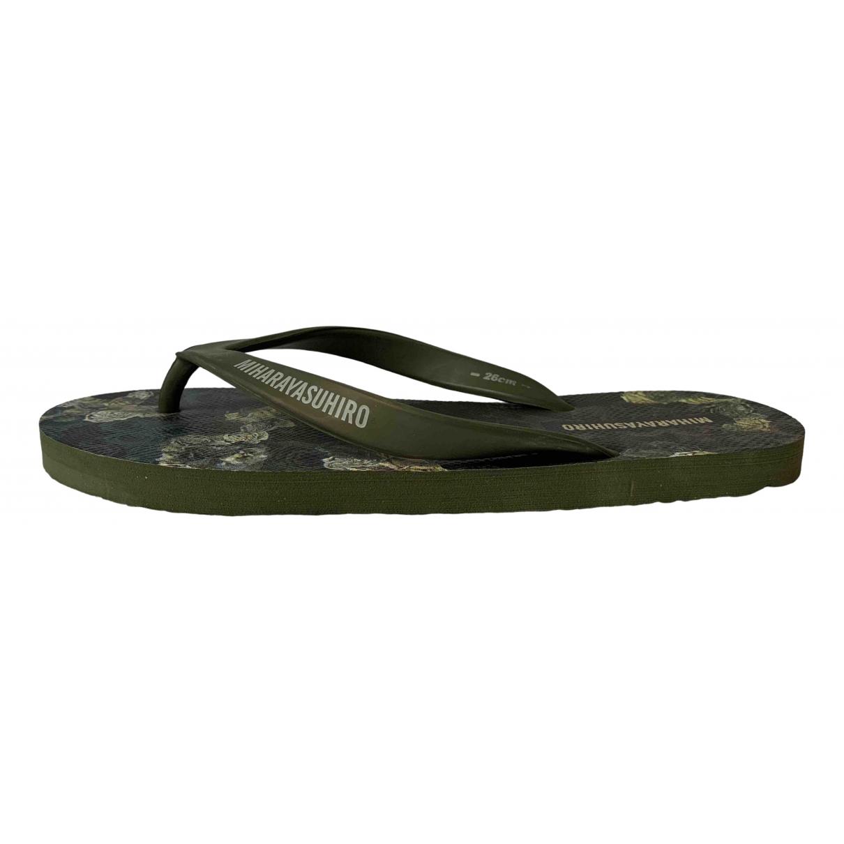 Miharayasuhiro \N Green Rubber Sandals for Men 40.5 EU