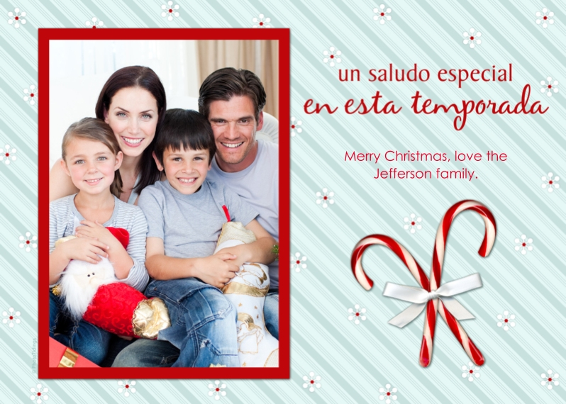 Holiday Photo Cards Flat Glossy Photo Paper Cards with Envelopes, 5x7, Card & Stationery -un saludo especial