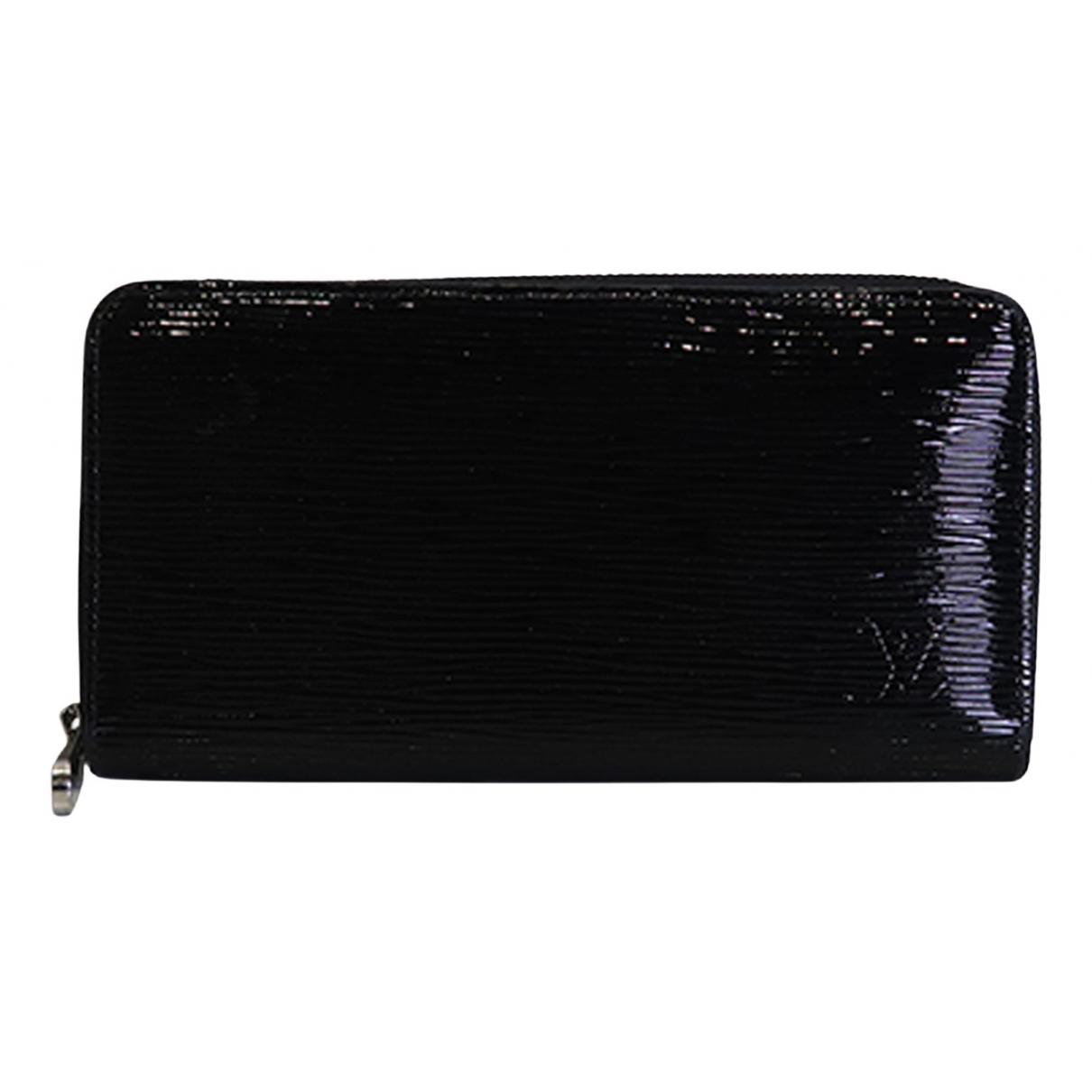 Louis Vuitton Zippy Black Patent leather wallet for Women N