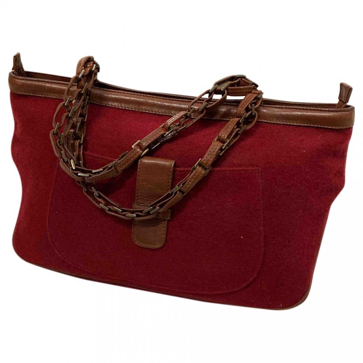 Max Mara \N Handtasche in  Rot Wolle