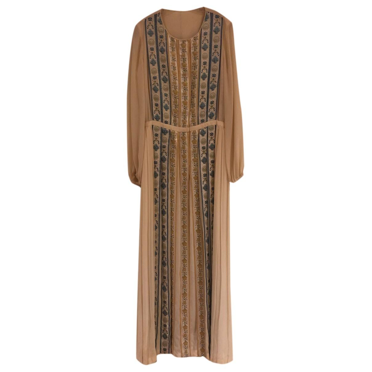 Lanvin \N Kleid in  Ecru Seide