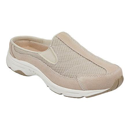 Easy Spirit Womens Hotrace Slip-On Shoe Round Toe, 7 Wide, White