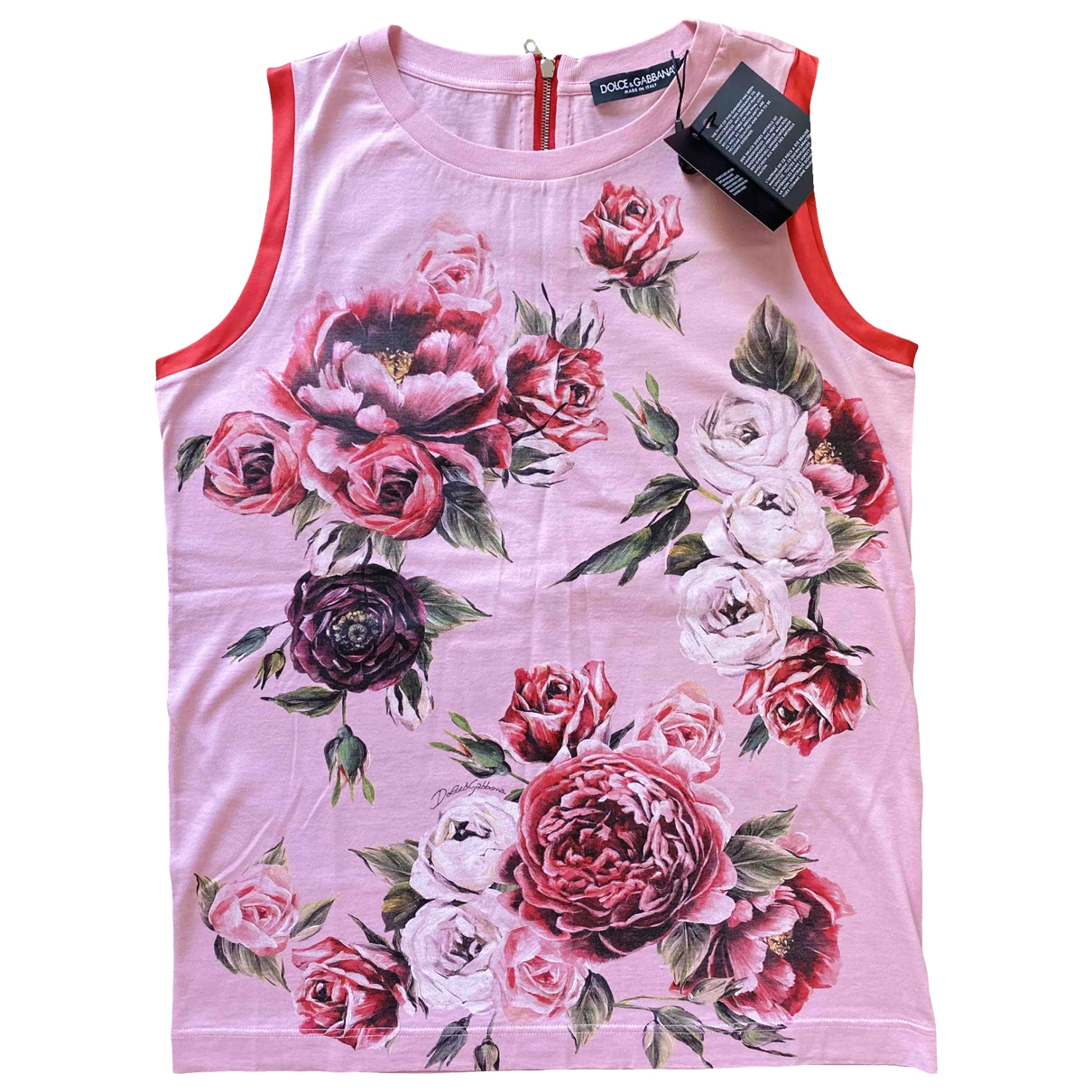 Dolce & Gabbana - Top   pour femme en coton - rose