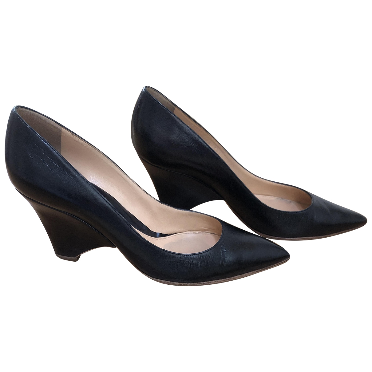 Sergio Rossi \N Black Leather Heels for Women 40.5 EU